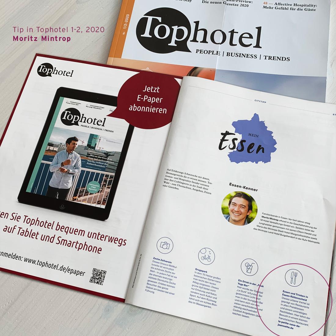 Tip in Tophotel, von Moritz Mintrop, Mintrops Landhotel