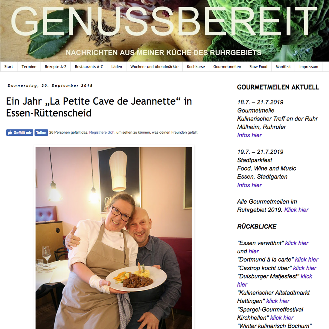 Genussbereit, Blog zur Küche im Ruhrgebiet, Peter Krauskopf
