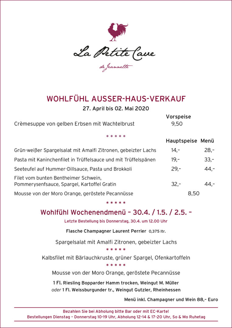 La Petite Cave de Jeannette, Wohlfühl-Ausser-Haus-Verkauf