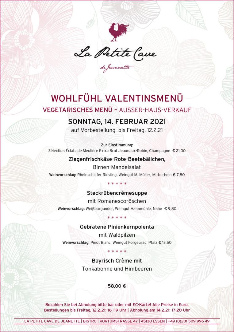 VALENTIN-VEGGIE-MENÜ 2021